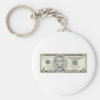 Abraham Lincoln 9 Keychain