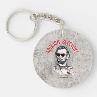 Abraham Lincoln - Abolish Sleevery Single-Sided Round Acrylic Key Ring