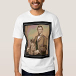 "Abraham Lincoln and his cat ""Dixie"" T-shirts"