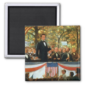 Abraham Lincoln and Stephen A. Douglas Magnet