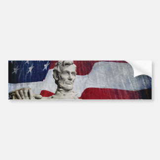 Abraham Lincoln and the Flag Car Bumper Sticker