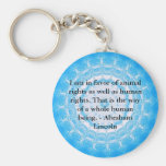 Abraham Lincoln  Animal Rights Quote Basic Round Button Key Ring