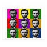 Abraham Lincoln Art Gifts---Unique 9 Photos Post Cards