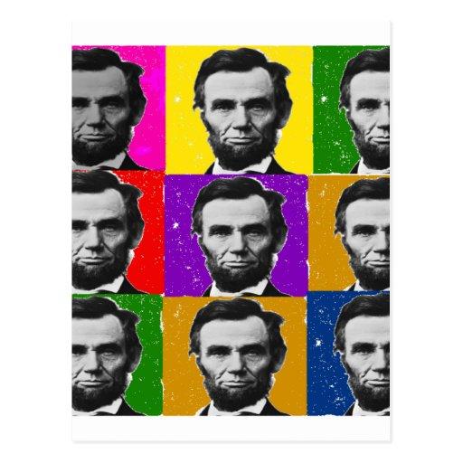 Abraham Lincoln Art Gifts---Unique 9 Photos Postcard