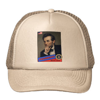 Abraham Lincoln Baseball Card Mesh Hats