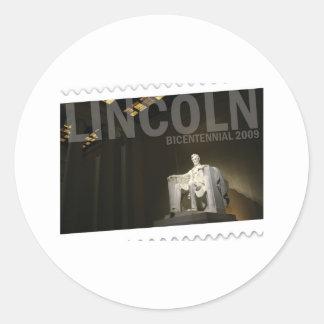 Abraham Lincoln bicentennial Round Sticker