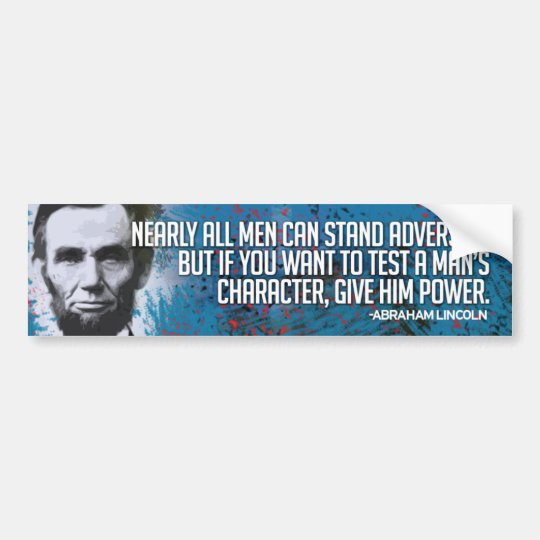 Abraham Lincoln Bumper Sticker