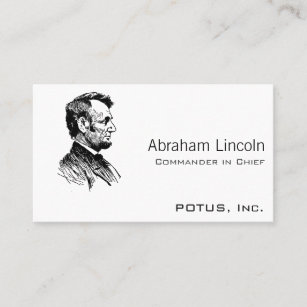 Presidential business cards business card printing zazzle uk abraham lincoln business card reheart Gallery
