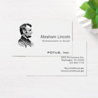 Presidential business cards business card printing zazzle uk abraham lincoln business card reheart Image collections