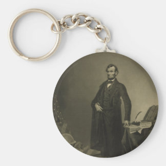 Abraham Lincoln by William Pate Keychains