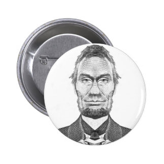 Abraham Lincoln caricature 100 dollars look 6 Cm Round Badge