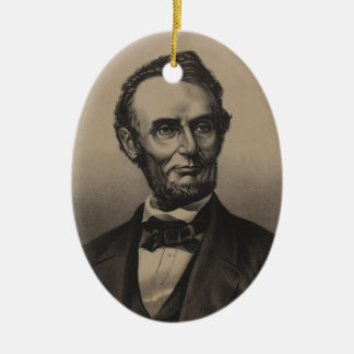 Abraham Lincoln Christmas Ornament