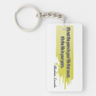 Abraham Lincoln Double-Sided Rectangular Acrylic Key Ring