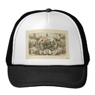 Abraham Lincoln Emancipation Proclamation Collage Cap