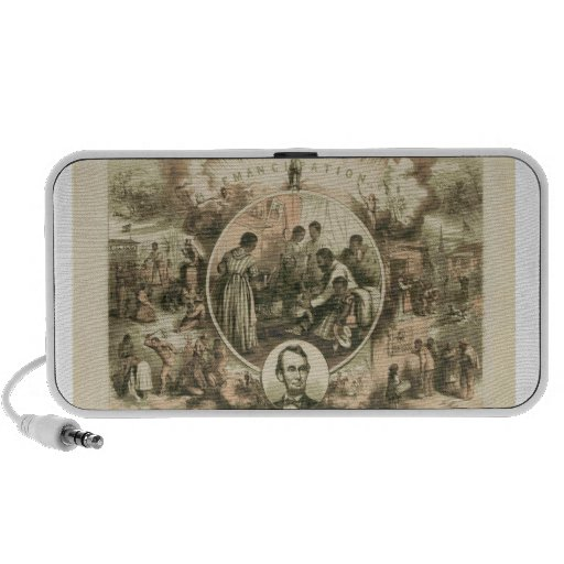 Abraham Lincoln Emancipation Proclamation Collage Mini Speaker