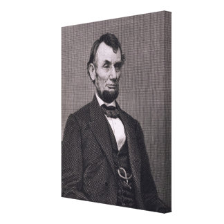 Abraham Lincoln, engraved from a photograph by Wil Canvas Print