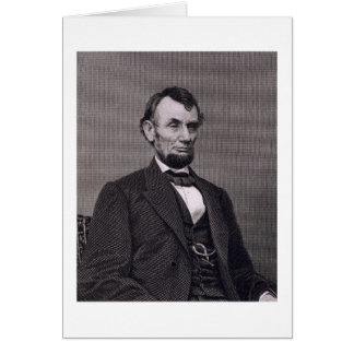 Abraham Lincoln, engraved from a photograph by Wil Card