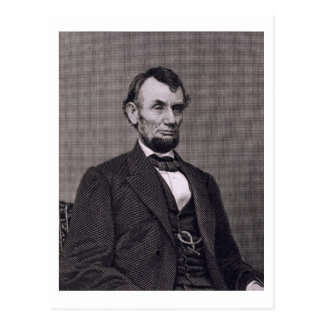 Abraham Lincoln, engraved from a photograph by Wil Postcard