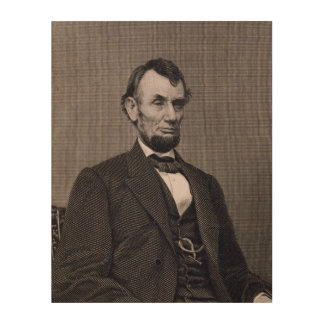Abraham Lincoln, engraved from a photograph by Wil Wood Canvas