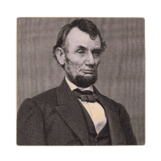 Abraham Lincoln, engraved from a photograph by Wil Wood Coaster