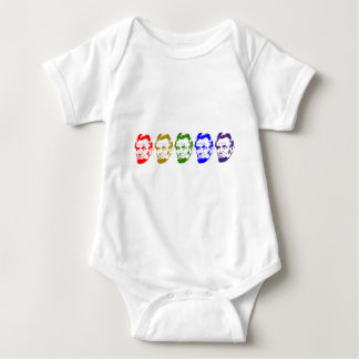 Abraham Lincoln Face Baby Bodysuit