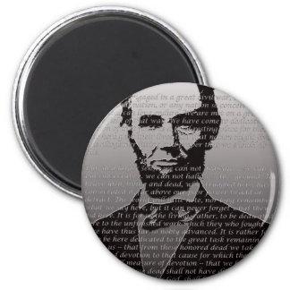 Abraham Lincoln Gettysburg Address 6 Cm Round Magnet