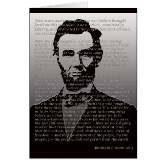 Abraham Lincoln Gettysburg Address Card
