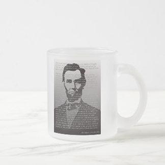 Abraham Lincoln Gettysburg Address Frosted Mug