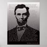 Abraham Lincoln Gettysburg Address Portrait Poster