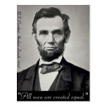 Abraham Lincoln Gettysburg Portrait Postcard