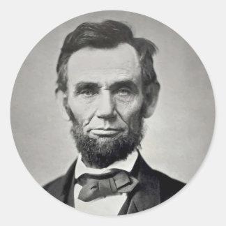 Abraham Lincoln Gettysburg Portrait Round Sticker