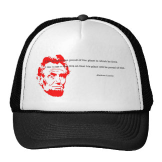 Abraham Lincoln Grateful Quote Red Cap