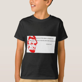 Abraham Lincoln Grateful Quote Red T-Shirt