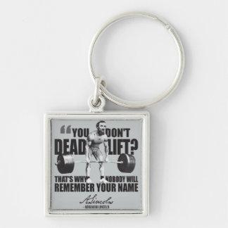 Abraham Lincoln Gym Humor - Deadlift Keychain