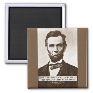 Abraham Lincoln 'Happy' wisdom quote magnet