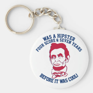 Abraham Lincoln Hipster Before It Was Cool Basic Round Button Key Ring