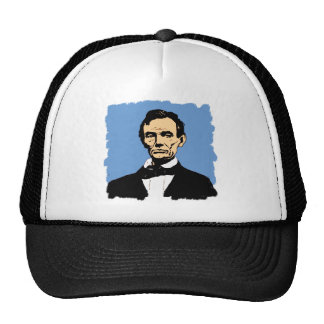 Abraham Lincoln Illustration on Blue Cap