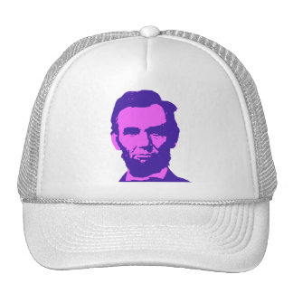 Abraham Lincoln in Pink & Purple Cap