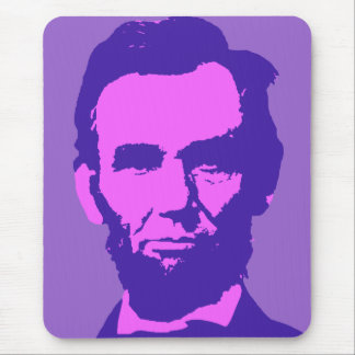 Abraham Lincoln in Pink Purple Mousepads
