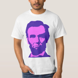 Abraham Lincoln in Pink & Purple Tshirts