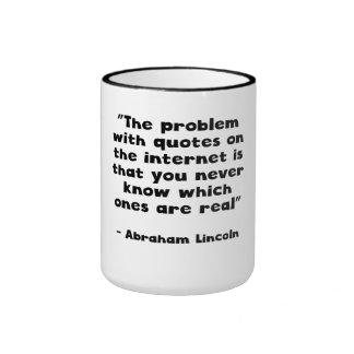 Abraham Lincoln Internet Quote Coffee Mug
