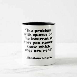 Abraham Lincoln Internet Quote Coffee Mugs