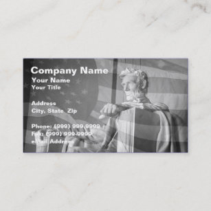 Abs business cards business card printing zazzle uk abraham lincoln memorial and united states flag business card reheart Gallery