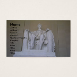 Presidential business cards business card printing zazzle uk abraham lincoln memorial business business card reheart Images