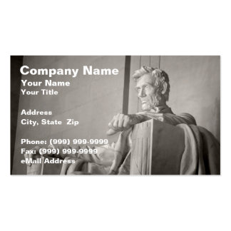 Abraham Lincoln Memorial Business Card Template