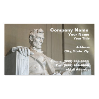 Abraham Lincoln Memorial Business Cards