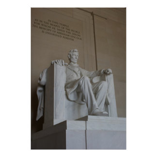 Abraham Lincoln Memorial Washington DC poster