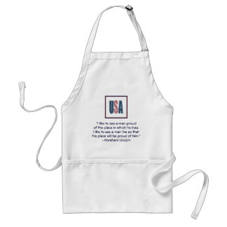 Abraham Lincoln National Pride Quote Aprons