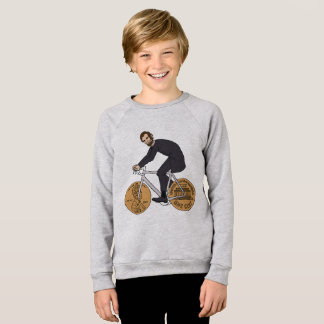 Abraham Lincoln On A Bike With Penny Wheels Sweatshirt