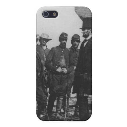 Abraham Lincoln on Battlefield at Antietam iPhone 5 Cases